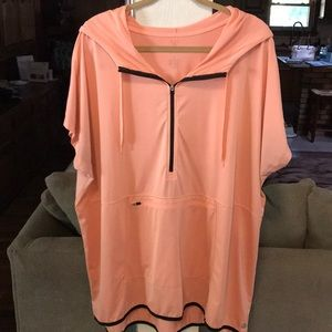 Coral Activewear Hooded Top from Lane Bryant